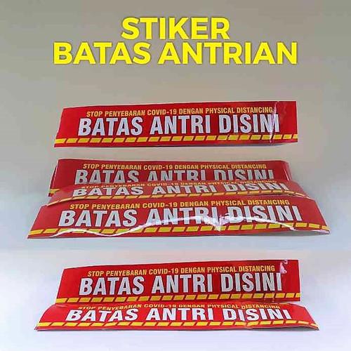 Foto Produk Stiker Batas Antrian - Model 8 cm x 46.5 cm dari Syafana