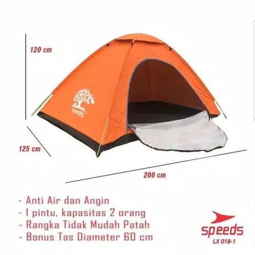 Foto Produk TENDA CAMPING 2 ORANG SPEEDS MURAH TENDA ANAK TENDA COUPLE CAMPING - Orange dari BLSS