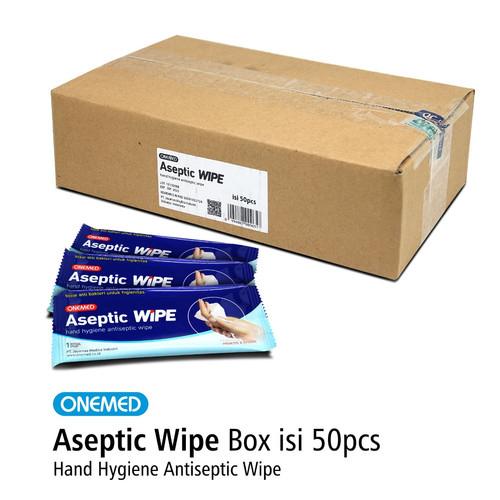 Foto Produk Aseptic Wipe Tissue Antiseptik Steril Wipe Onemed Box Isi 50 pcs dari Onemed Rawat Luka