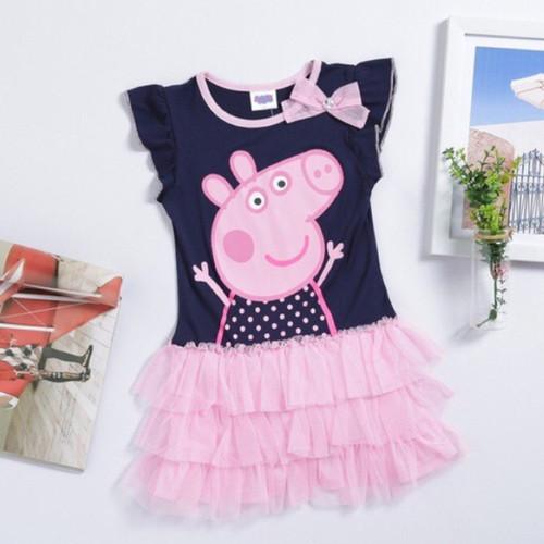 Foto Produk Dress pepa george pig import baju babi lucu dari cutePeppa