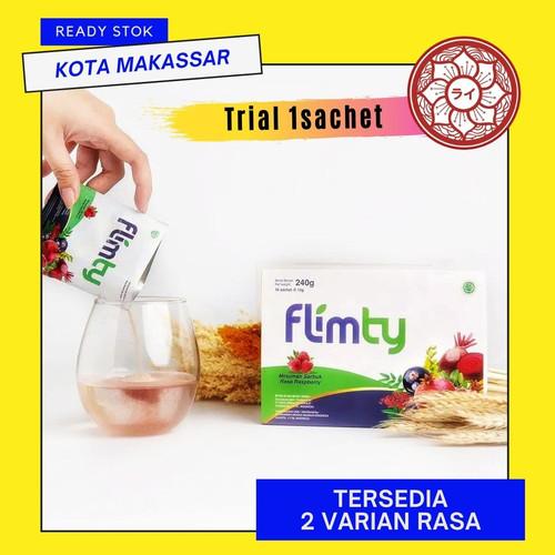 Foto Produk Flimty Fiber 1 Sachet BPOM Pelangsing Obat Kurus Diet - Blackcurrant dari Rai Organik Online
