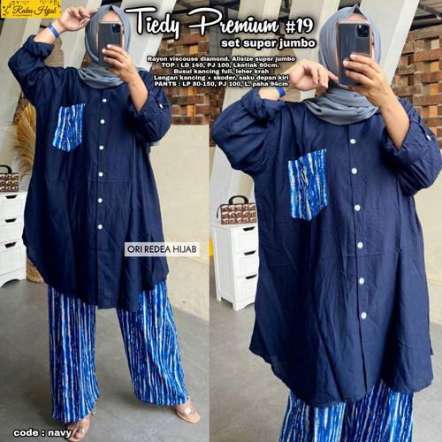 Foto Produk New Tiedy Set #19 Setelan Celana Wanita Super Jumbo Big Size Modis dari Ilyassa Shop