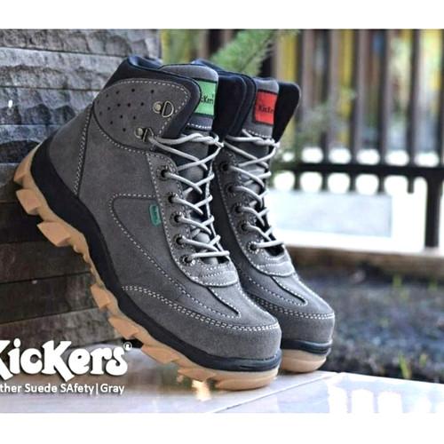Foto Produk sepatu kulit kickers boot safety ujung besi tracking adventure dari shoesmarket777
