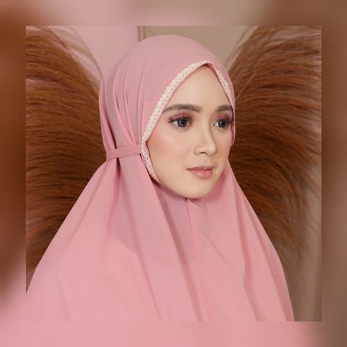 Foto Produk Khimar bergo maryam renda instan kerudung instan diamond jilbab instan - Abu tua dari aymeysashop
