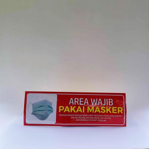 Foto Produk Stiker Wajib Pakai Masker dari Syafana