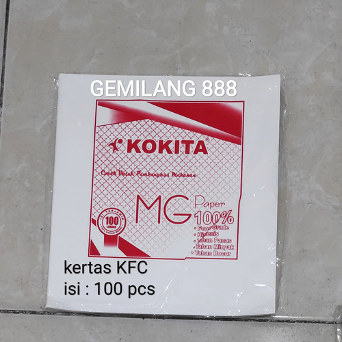 Foto Produk Kertas Nasi KFC/MCD, kertas Burger/Kebab, Kertas Bungkus nasi dari Gemilang 888
