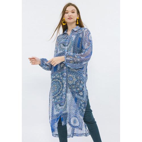 Foto Produk Minimal Decorative Mandala Shirt Dress Blue - L dari minimal