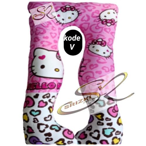 Foto Produk bantal hamil dan menyusui + sarung hello kitty - kode T dari srizki collection