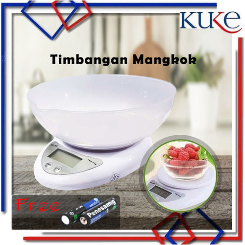 Foto Produk TIMBANGAN DIGITAL MANGKOK / Timbangan Kue Digital Electronic 5 kg B05 dari KUKE