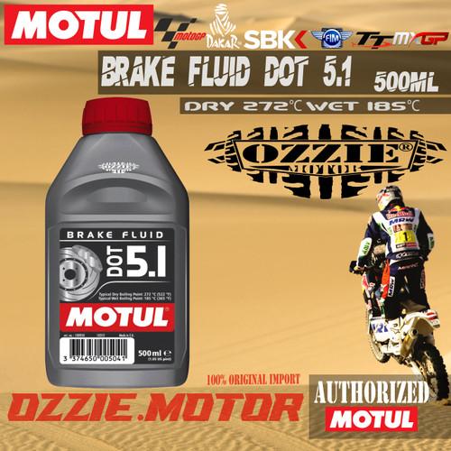 Foto Produk MOTUL DOT 5.1 BRAKE FLUID MINYAK REM OLI IMPORT 500ml ORIGINAL dari Ozzie Motor