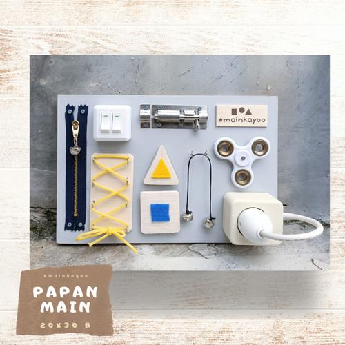 Foto Produk Papan Main - Busy Board (2B) Mainan Kayu Edukasi Montessori #mainkayoo dari mainkayoo