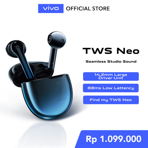 Foto Produk vivo TWS Neo Starry Blue dari vivo Indonesia