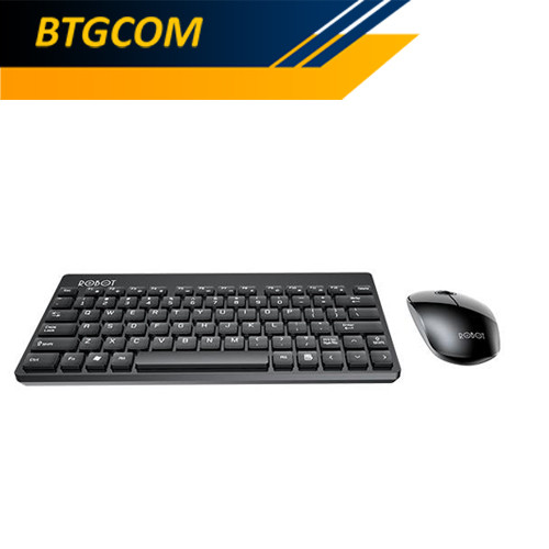 Foto Produk Robot KM3000 Portable Mini Wireless Combo Keyboard Mouse Bundle dari BTGCOM