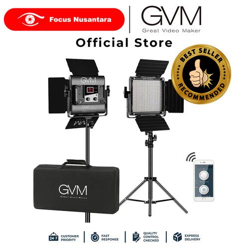 Foto Produk GVM 560AS2L LED Light BI-Color Video 3 Light App Remote Control dari Focus Nusantara