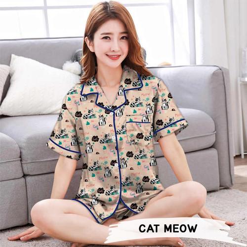 Foto Produk Monalisa Piyama HP Jumbo Motif Karakter - Part 2 - Cat Meow dari Aneka Textile Official