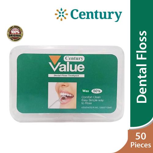 Foto Produk CENTURY DENTAL FLOSS WAX 50`S / BENANG GIGI / TUSUK GIGI dari CENTURY HEALTHCARE