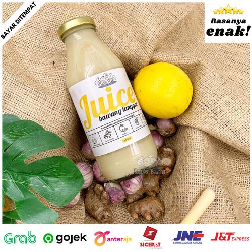 Foto Produk Jus Herbal Bawang Putih Tunggal, Cuka Apel, Jahe Merah, Lemon dan Madu - TANPA MADU dari Supplier Bawang
