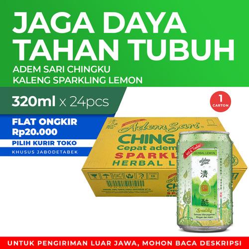 Foto Produk Adem Sari Ching Ku Minuman Penyejuk Kaleng Sparking Lemon 1 Ctn 320 Ml dari Enesis Official Store