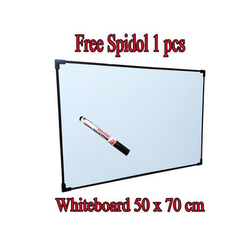 Foto Produk Papan Tulis 50 x 70 cm Whiteboard dari toko ozhon(alat tulis )