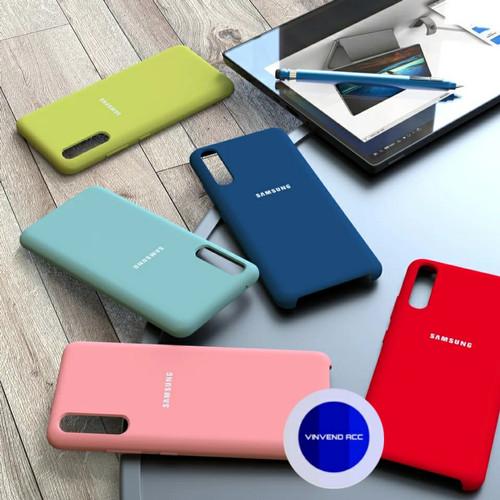 Foto Produk Silicone Cover Samsung Galaxy A50 2019 A505 Original Silikon SoftCase - Hitam dari Vinvend ACC