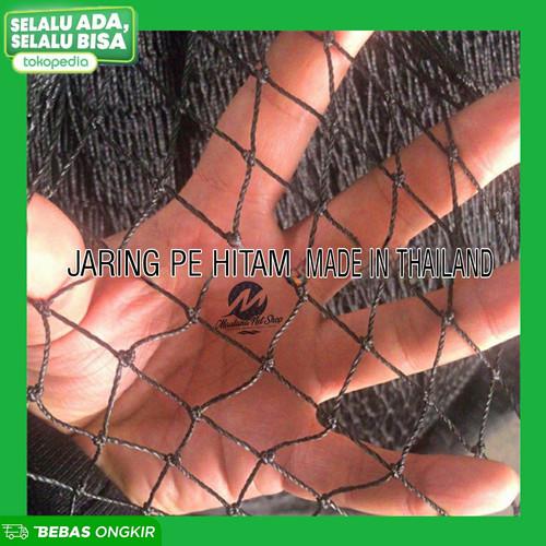 Foto Produk Jaring pe hitam lubang kecil untuk pengaman,pagar ayam,kolam dari maulana net shop