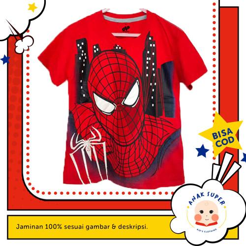 Foto Produk Kaos Anak Laki-Laki Lengan Pendek Motif Spiderman Face 1 - 10 - 1-2 Tahun dari Anak Super