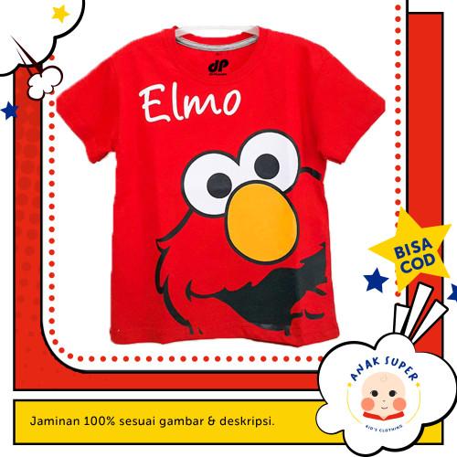 Foto Produk Baju/Kaos Anak Lengan Pendek Motif ELMO 1 - 10 Tahun - 1-2 Tahun dari Anak Super