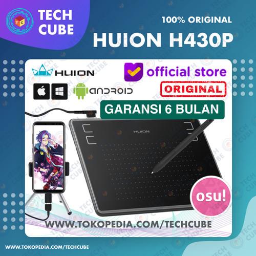 Foto Produk Huion H430P Graphic Drawing Tablet OSU Alternati H420 H640P HS64 S640 - Tablet dari Tech Cube