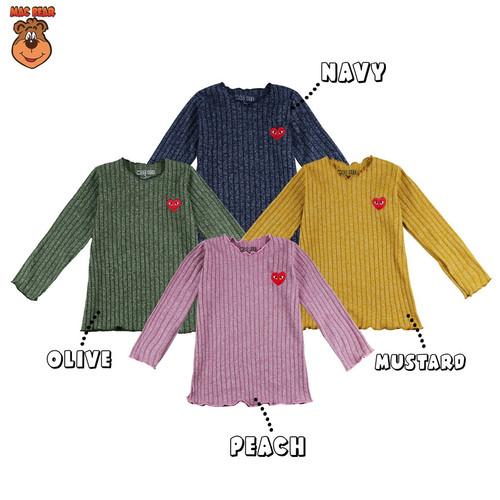 Foto Produk MacBee Baju Anak Perempuan Yuura Love 2 tahun -12 tahun - Olive, SIZE 2 dari MacBear ID
