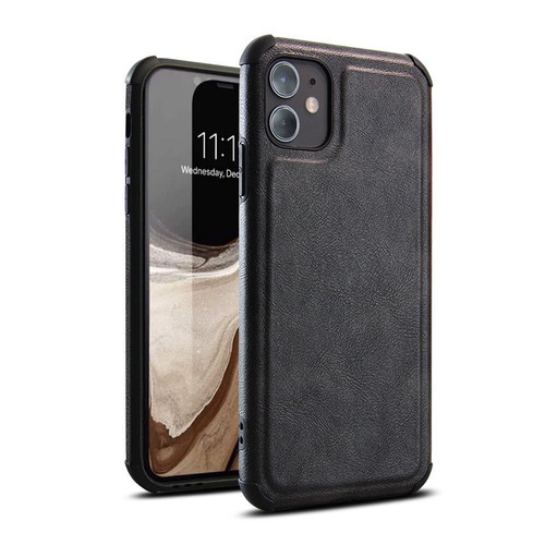 Foto Produk CASE CASING IPHONE 11 DAN 12 PREMIUM PU LEATHER CASE HIGH QUALITY MK - Hitam dari BANDAR AKSESORIS