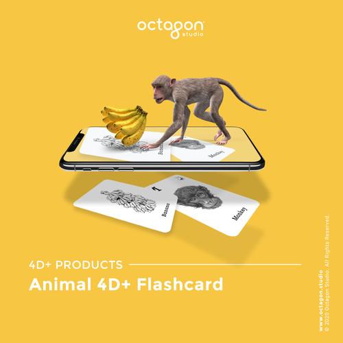 Foto Produk Kartu Animal 4D+ - Mainan Edukasi Anak (Octagon Studio) free foodcards dari OctagonStudio