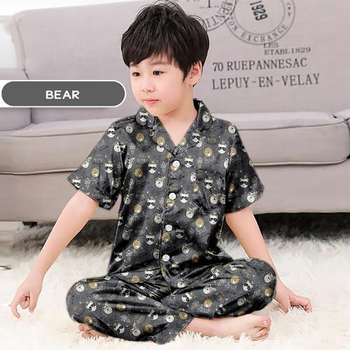 Foto Produk Monalisa Piyama Anak Laki Motif Karakter Usia 8-10 Tahun (Size 10) - Bear dari RiasRuma