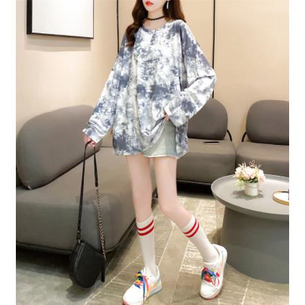 Foto Produk Kaos Import T Shirt Tie Dye Original Tangan Panjang Semi Dress dari Grosir Korean style
