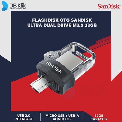 Foto Produk Flashdisk OTG Sandisk Ultra Ultra Dual Drive M3.0 32GB dari dbclick