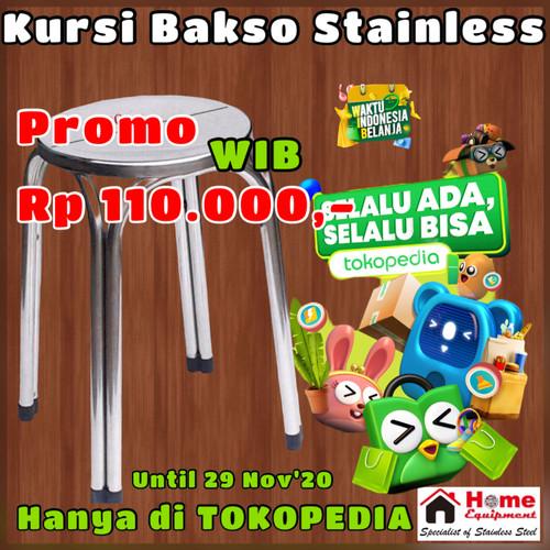 Foto Produk Kursi Bulat Bakso STAINLESS STEEL MURAH MERIAH... dari home_equipment