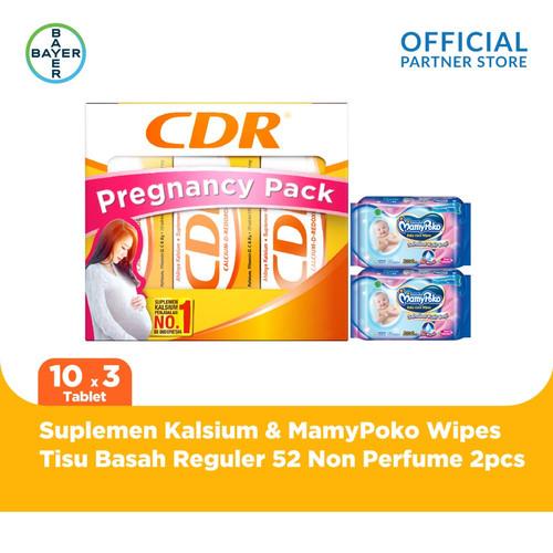 Foto Produk CDR Pregnancy Pack & MamyPoko Tisu Basah 52 Non Perfume x 2 Unit dari Bayer Health Partner