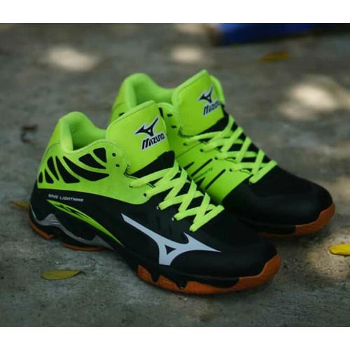 Foto Produk Sepatu volly / Sepatu voli / mizuno wave lightning import premium - Hijau Hitam, 41 dari Kios Nasa Nusantara