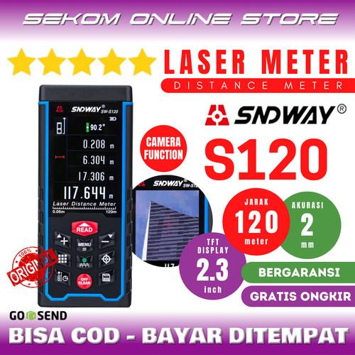 Foto Produk SNDWAY Meteran Laser Digital Distance 120 Meter SW-S120 With Camera dari SEKOM ONLINE STORE
