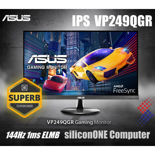 Foto Produk ASUS VP249QGR Gaming 144Hz 1ms IPS ELMB Low Blue Light VESA FreeSync dari silicon ONE Computer