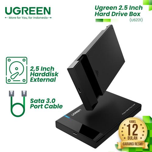 Foto Produk UGREEN Hard Disk Enclosure USB A 3.0 To 2.5'' SATA - US221 dari UGREEN Authorized Store