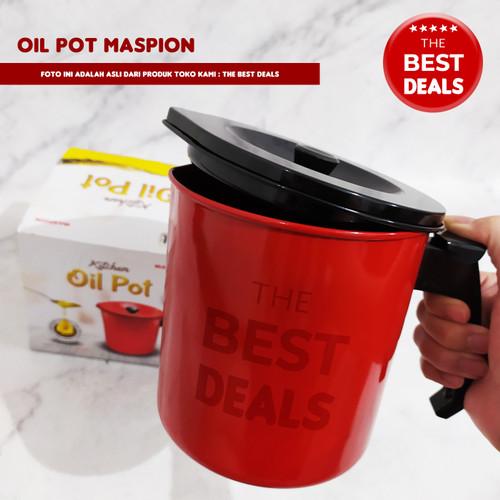 Foto Produk Oil Pot / Wadah Saringan Minyak 1,5L - Maspion - extra bubble dari The Best Deals