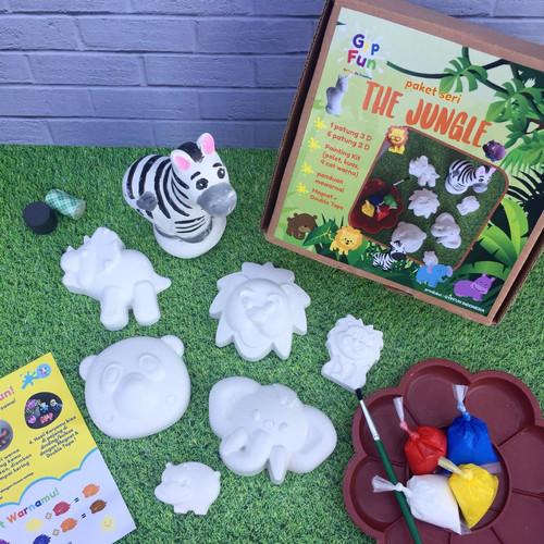 Foto Produk mainan aktifitas anak melukis mewarnai patung gypsum gypfun jungle dari Calla Lily Store