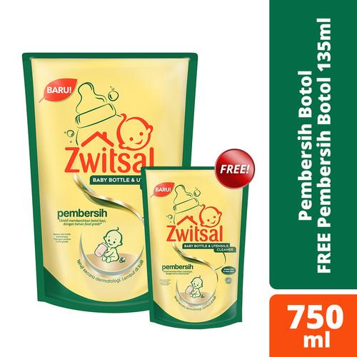 Foto Produk Zwitsal Baby Bottle Cleaner 750Ml free 135ml dari Unilever Official Store