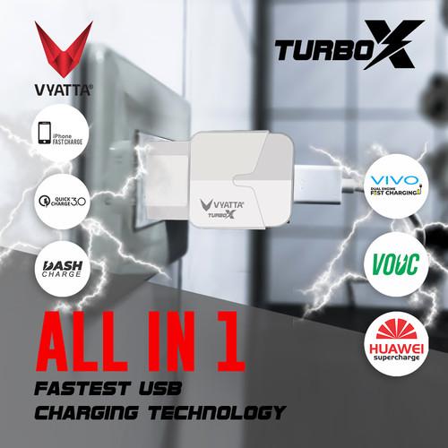 Foto Produk VYATTA TURBO Charger Quick Charge 3.0 - GARANSI 12 BULAN TANPA BATAS - Putih dari VYATTA INDONESIA