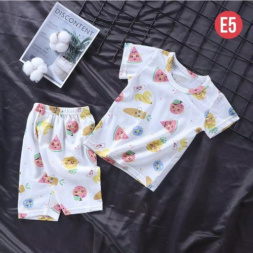 Foto Produk Baju Setelan Anak Kekinian Set / Baju santai Anak umur 1-7tahun / - E05, 80 dari Henlit store
