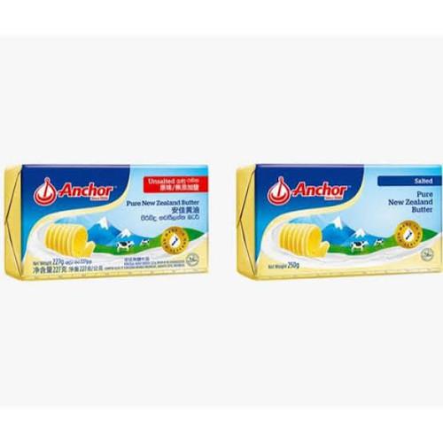 Foto Produk Anchor butter unsalted 227 gr ori - unsalted, gojek grab dari happytummysby