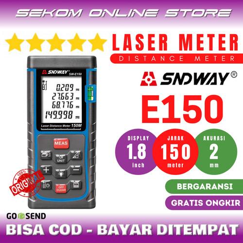 Foto Produk SNDWAY Meteran Laser Digital Distance 150 Meter SW-E150 dari SEKOM ONLINE STORE