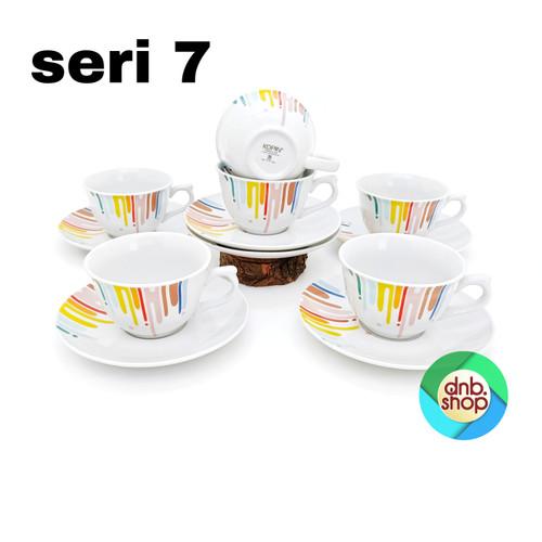 Foto Produk 6 Pasang Cangkir Set / Cangkir + Saucer Kopin Royal Heritage RAINBOW - Seri tujuh dari dnb.Shop