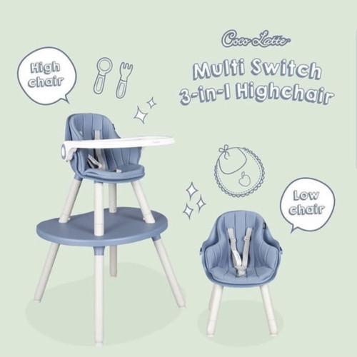 Foto Produk High Chair Cocolatte CL UR 2308 MULTI SWITCH 3 In 1 Kursi Makan Anak - Blue dari Baby_World