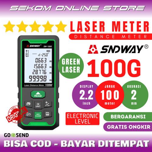 Foto Produk SNDWAY Meteran Digital Distance 100Meter SW-100G Laser Hijau dari SEKOM ONLINE STORE